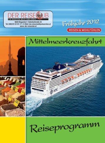 Reiseprogramm Frühjahr 2012 - Kärnten