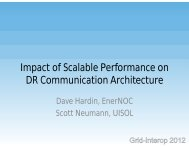 Impact of Scalable Performance on DR Communication Architecture ...