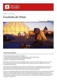 Geschenke der Wüste - Weltweitwandern