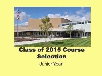 Course Planning for Junior Year - Metea Valley High School