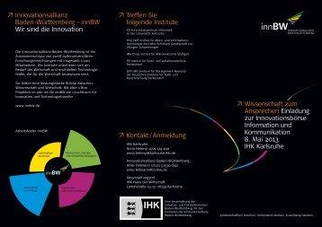 Download Innovationsbörse 08.05.2013 (pdf) - Innovationsallianz ...