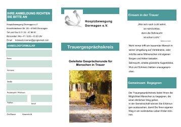 Flyer Trauergespraechskreis 2013.pdf - Hospizbewegung ...
