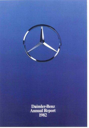 Daimler-Benz Annual Report 1982