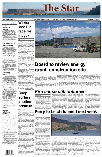 August 7, 2013 - The Star of Grand Coulee