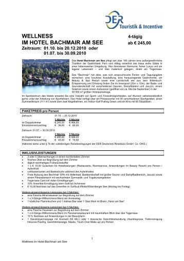 WELLNESS IM HOTEL BACHMAIR AM SEE - Caro Magazin