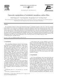 Nanoscale manipulation of tetrahedral amorphous carbon films