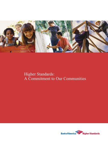 Higher Standards: A Commitment to Our Communities