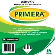 Primiera 5L label - Nufarm