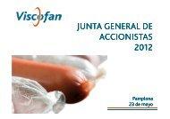 Presentación Junta General de Accionistas 2012 - Viscofan