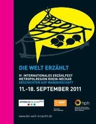 DIE WELT ERZÄHLT 11.-18. SEPTEMBER 2011 - Offensive Bildung