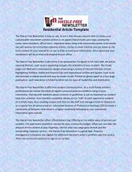 Residential Article Template