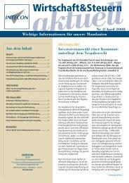 weiter - Intecon Treuhand und Wirtschaftsberatung GmbH