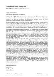 Jahresabschluss zum 31. Dezember 2009 ERLUS - Erlus AG