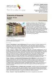 Cracovie et Varsovie - Arts et Vie