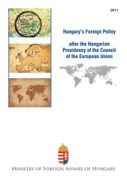 Hungary's Foreign Policy after the Hungarian Presidency of the ...