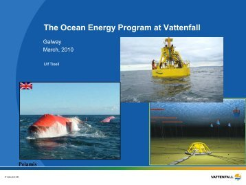 Ocean Energy – a vision becomes reality - Marine Institute