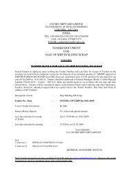 cochin – 682 015 india tender document for sale ... - Cochin Shipyard