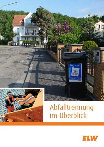 Abfalltrennung im Überblick (deutsch) - ELW