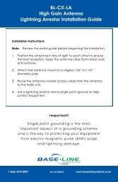 BL-CX-LA High Gain Antenna Lightning Arrestor ... - Baseline Systems