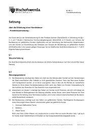 Satzung 9/01/I - Hundesteuersatzung - Bischofswerda