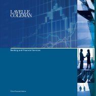to view our Banking & Financial Services Brochure - Lavelle Coleman