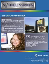 Double S LED Brochure - signSearch