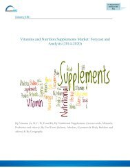 Vitamins and Nutrition Supplements Market: Forecast and Analysis (2014-2020)