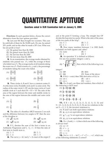 quantitative ability essay Essays instructions: please complete your essay response in the box provided below the admissions committee will review the content of your responses, as well as your ability to express yourself in writing.
