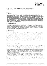 allgemeinen Geschäftsbedingungen - Swissherdbook