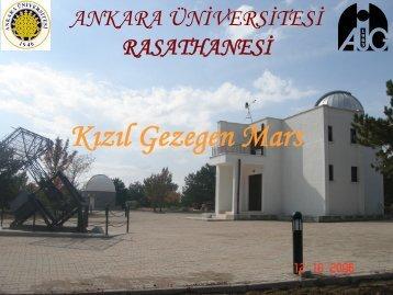 Kızıl Gezegen Mars - Ankara Üniversitesi Gözlemevi