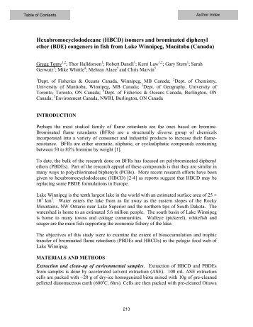 Hexabromocyclododecane (HBCD) - Sixth International Symposium ...