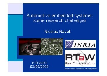 Automotive embedded systems: some research challenges