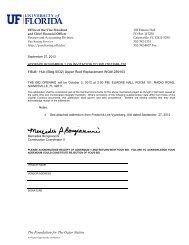 Addendum 1 - UF Purchasing - University of Florida