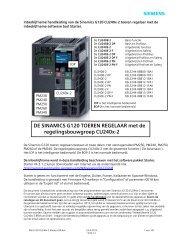 IBH G120 CU240x-2 Starter V39 - Industry - Siemens Nederland