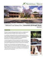 National Trust Venue Hire   Grossmann & Brough House - NSW