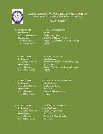 A.R. ENGINEERING COLLEGE, VILLUPURAM