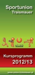 findest du den neuen Folder 2012/13 - Union Traismauer