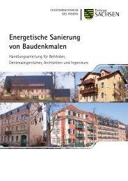 Energetische Sanierung von Baudenkmalen - Denkmalpflege in ...