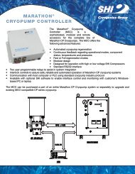 marathon® cryopump controller marathon® cryopump controller
