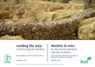 Leading the way: Montrer la voie: - lead africa
