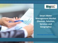 Smart Water Management Market (Devices, Solution, Services and Geography) 2020