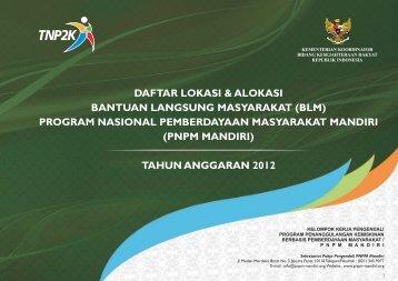 Daftar Lokasi dan Alokasi PNPM 2012 - psflibrary.org