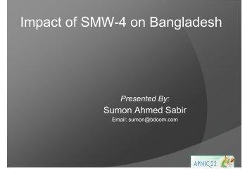 Impact of SMW-4 on Bangladesh - apnic