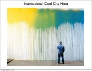 International Cool City Hunt - Tendencias de Moda