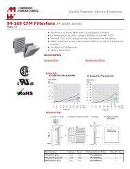 94-169 CFM Filterfans (PF GEN4 Series) - Hammond Mfg.