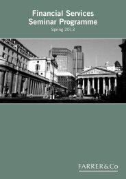 Financial Services Seminar Programme - Farrer & Co