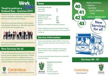 Worklink Timetable and Information - Rutland County Council