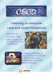 Symposium 2011 Brochure - Society for the Arts in Dementia Care