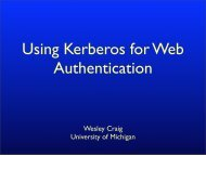 Using Kerberos for Web Authentication - AFS & Kerberos Best ...