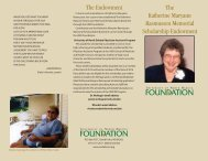 Katherine Maryann Rasmussen Memorial Scholarship - School of ...
